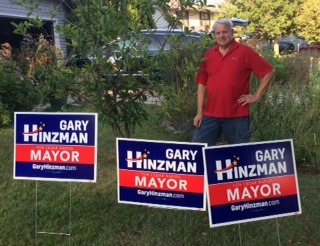 Yard Signs for Gary Hinzman